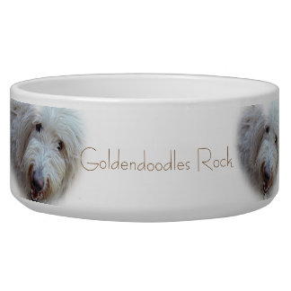 Goldendoodlesの石の愛らしいドッグフードボール