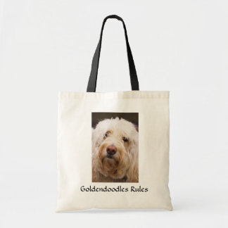 Goldendoodlesの規則のキャンバスの予算のトートバック トートバッグ