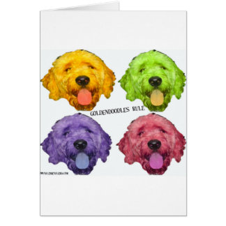 Goldendoodlesの規則4色 カード