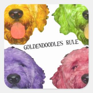Goldendoodlesの規則4色 スクエアシール