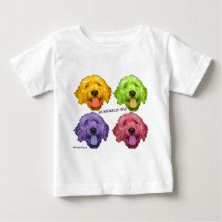 Goldendoodlesの規則4色 ベビーTシャツ