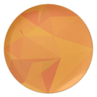 Goldenrod黄色の抽象芸術の低い多角形の背景 プレート
