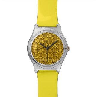 Goldenrod 「水を含んだ」モザイク・タイルパターンの陰 腕時計