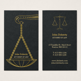 GoldenScales Of Justice | Professional Lawyer 名刺