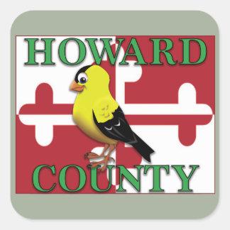 goldfinchが付いているハワード郡 スクエアシール