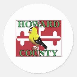 goldfinchが付いているハワード郡 ラウンドシール
