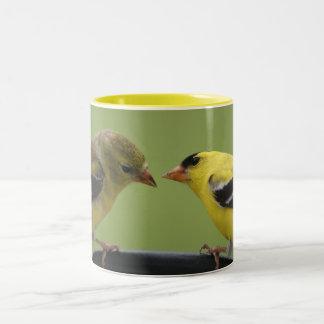 Goldfinchのカップルのマグ ツートーンマグカップ