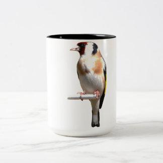 GOLDFINCHの鳥、フィンチ、フィンチの鳥 ツートーンマグカップ
