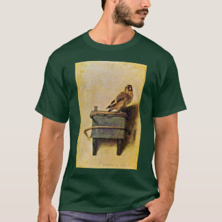 Goldfinch。、Carel Fabritius著Puttertje Tシャツ