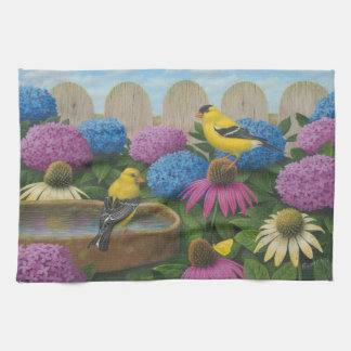 Goldfinches キッチンタオル