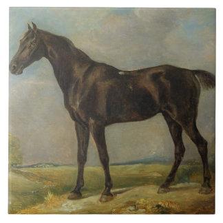 Goldingの巡査の黒い乗馬馬、c.1805-10 タイル