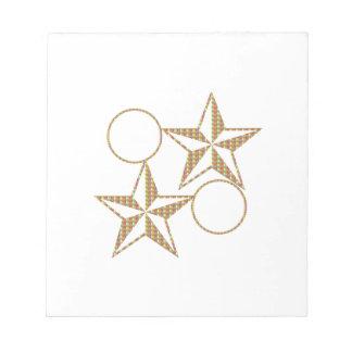 GoldStarは対のカップルを組み合わせます ノートパッド