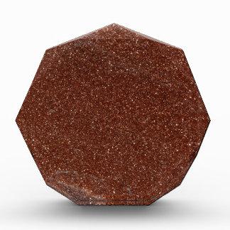 Goldstoneガラスのマクロ写真 表彰盾