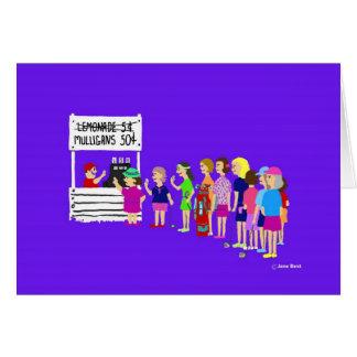 Golf Cartoonマリガンの女性挨拶状 カード