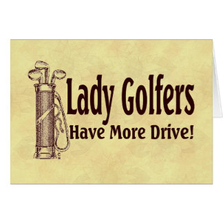 Golfers女性 カード