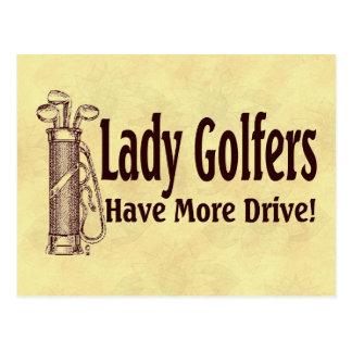 Golfers女性 ポストカード