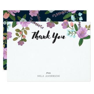 Golightlyの花柄はノート感謝していしています 12.7 X 17.8 インビテーションカード