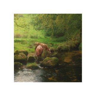 Golitha川Foweyコーンウォールイギリスの牛は落ちます ウッドウォールアート