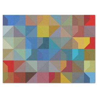 Gometricの芸術の多彩な三角形およびダイヤモンド 薄葉紙