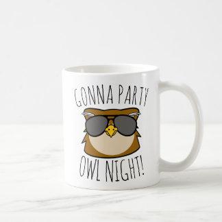 Gonna Party Owl Night コーヒーマグカップ