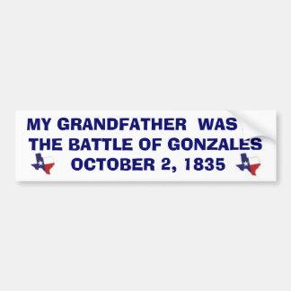 GONZALES - 1835年の戦い バンパーステッカー