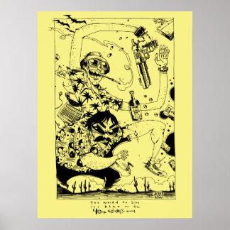 Gonzo純粋なプリントかポスター ポスター
