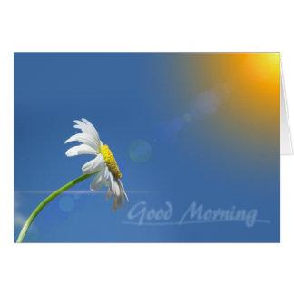 Good Morning, Thanks for bringing sunshine カード