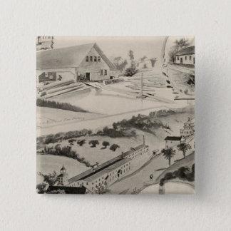 Goodell Coの仕事、Antrim、NH 5.1cm 正方形バッジ