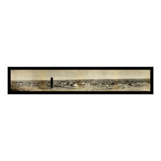 Goodlandのカンザスのパノラマ式の写真1907年 ポスター