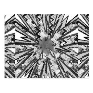 Goodluckの輝き白いnの黒い星のグラフィックアート ポストカード