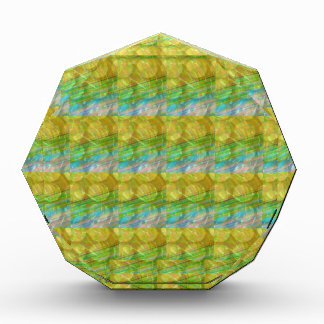 GOODLUCKの金緑の水晶は水晶ギフトに玉を付けます 表彰盾