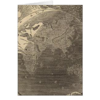 Goodrich著東半球の地図 カード