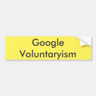 Google Voluntaryism バンパーステッカー