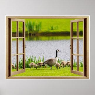 Goose開いているウィンドウのママ ポスター