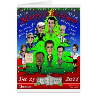 GOPのクリスマスツリー カード