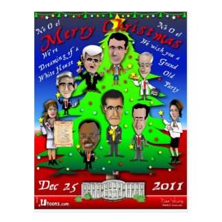 GOPのクリスマスツリー ポストカード
