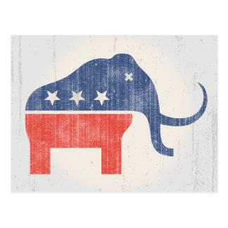 GOPのマンモスのロゴ ポストカード