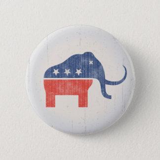 GOPのマンモスのロゴ 5.7CM 丸型バッジ