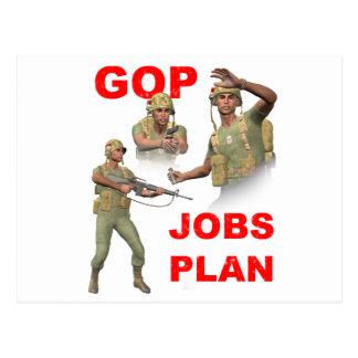 GOPの共和党員、仕事の計画 ポストカード