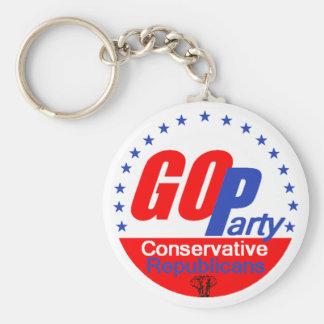 GOPの共和党員Keychain キーホルダー
