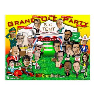 GOPの大きいテント ポストカード