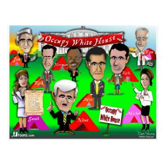GOPはホワイトハウスを占めます ポストカード