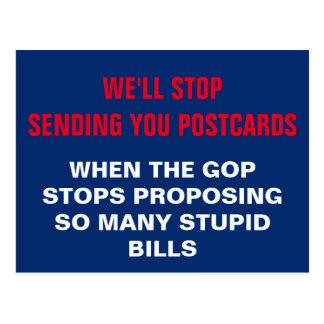 GOPは抵抗するために愚かな手形を提案することを止める必要があります ポストカード