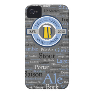 GoPubbinビールはiphone 4ケースの-青か灰色スタイルを作ります Case-Mate iPhone 4 ケース
