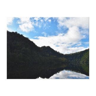 GORDANの川TARKINEの国立公園タスマニア キャンバスプリント