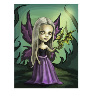 Gorhicの妖精およびベビーのドラゴン ポストカード