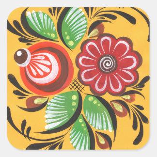 Gorodetsの花 スクエアシール