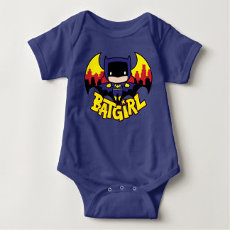 Gothamのスカイライン及びロゴのチビ(小さくかわいく書いた感じ) Batgirl ベビーボディスーツ