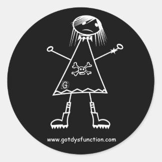 Gothgirl ラウンドシール