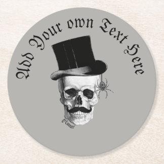 Gothic grooms skull ラウンドペーパーコースター